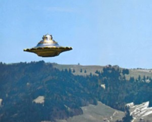 Unidentified flying object, photo by Billy Meier.