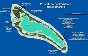 Many speculate that Amelia Earhart and her navigator Fred Noonan crashed on Gardner Island (now Nikumaroro) in the Central Pacific Ocean.