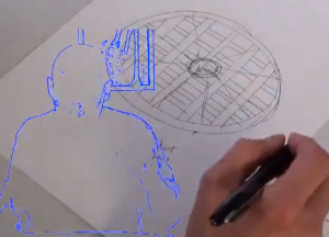 The Baltic Sea anomaly drawn by Edward Riordan during a remote viewing session.