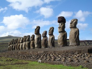 Easter Island Statues (photo by Honey Hooper)